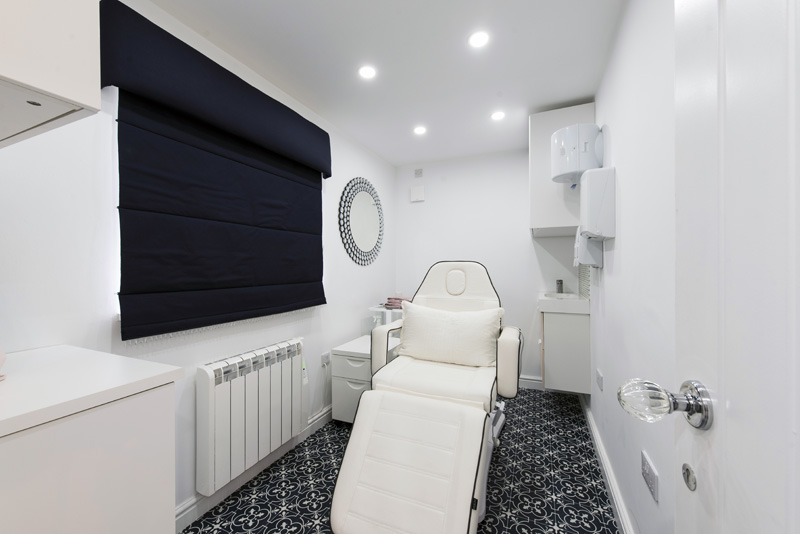 white massage chair in spa room